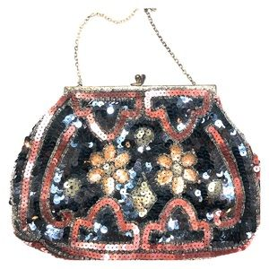 Handbags - Vintage French Sequin Clutch Purse